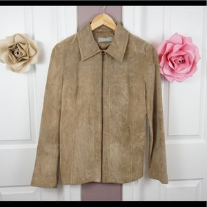 Liz Claiborne - Real Suede Tan Jacket